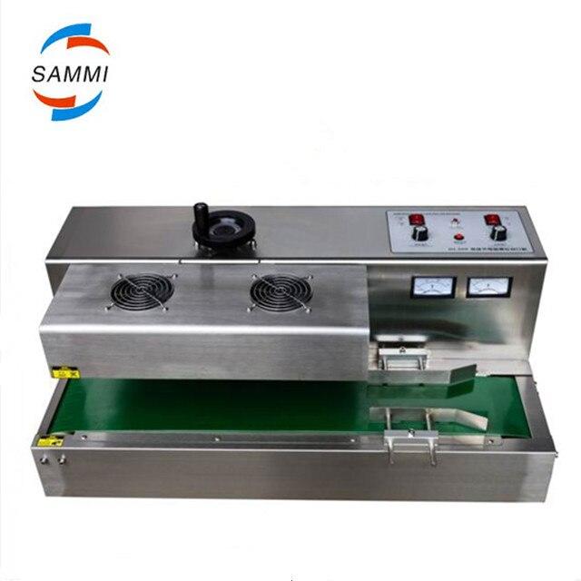 De bureau en acier inoxydable Continue Induction Sealer, induction Électromagnétique d'étanchéité machine