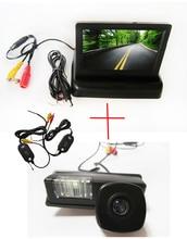Камеры заднего вида беспроводной цвет автомобиля для Nissan Maxima Cefiro Teana паладин Tiida sylphy, С 4.3 дюймов складная LCD TFT монитор