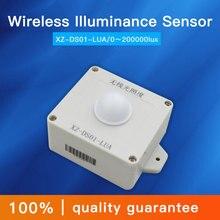0 200000lux เซ็นเซอร์ความเข้มแสง 470 mhz/433 mhz ไร้สาย lora เซ็นเซอร์ความสว่างความสว่างเครื่องส่งสัญญาณแบตเตอรี่เปลี่ยนได้