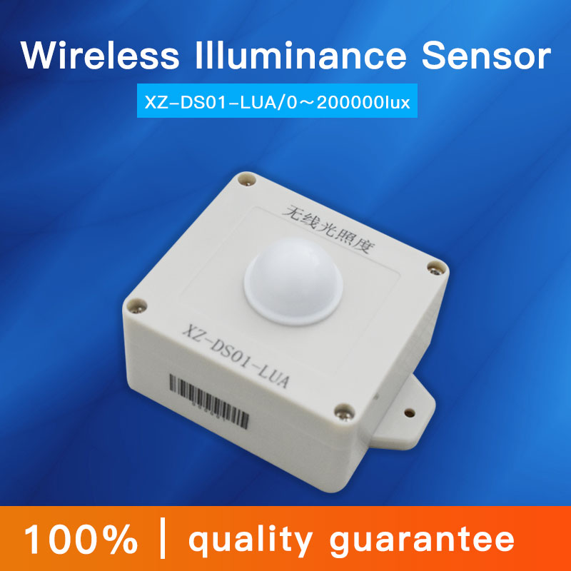 0-200000lux light intensity sensor 470mhz/433mhz lora wireless illumination illuminance transmitter Battery replaceable