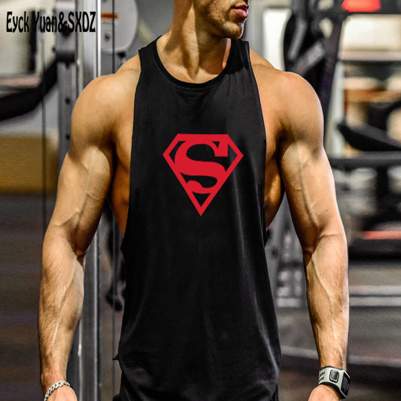 Hoodie Superman Tank Stringer Golds Men Bodybuilding Gym Muscle FAST SHIPPING!!!