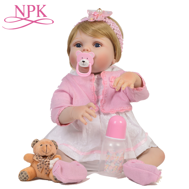 NPK bebes 57CM Full Boby Silicone Reborn Dolls Soft Baby Dolls Toys Adorable Lifelike Newborn Princess Doll Bonecas Toys Girl