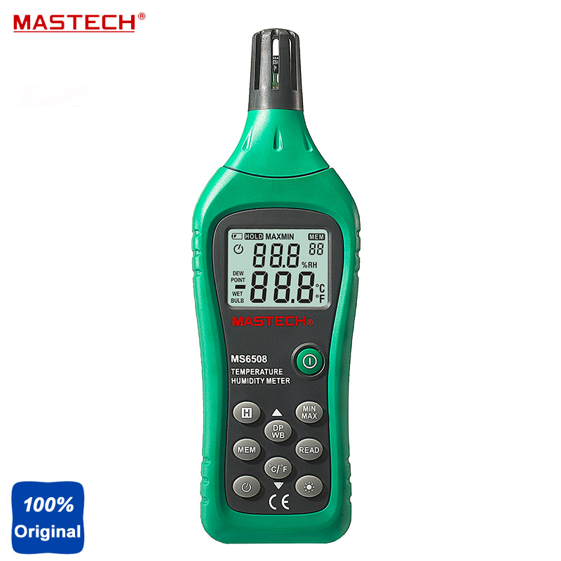 MS6508 High Precision Multimeter Industrial Handheld Digital Temperature Humidity Meter Moisture Meter цены