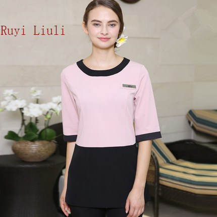 Beautician's working clothes, professional clothes, long style beauty salon, health care center, SPA technician's suit