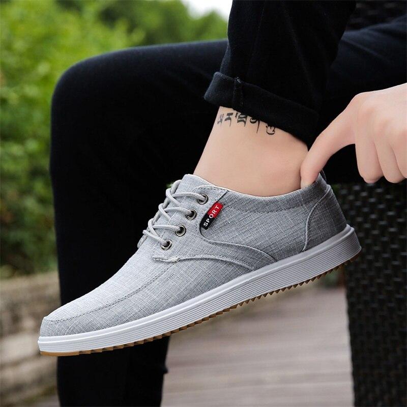 2019 Outono Sapatos Casuais Homens Sapatilhas Homens Das Sapatilhas Dos Homens de Lona Respirável Conforto de Luz sapatos de Caminhada Masculinos Sapatos Chaussure Homme