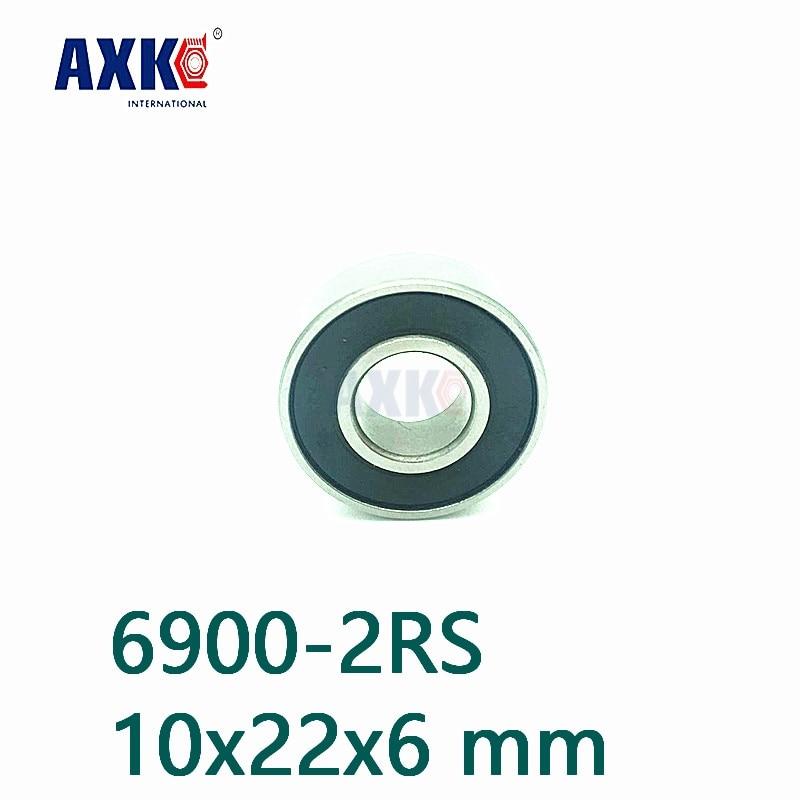 Metal Rubber Ball Bearing Bearings BLACK 6900RS 5PCS 6900-2RS 10x22x6 mm