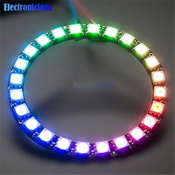 WS2812B Module Strip 24 Bits 24 X WS2812 5050 RGB LED Ring Lamp Light with Integrated Drivers RGB 24 for Arduino