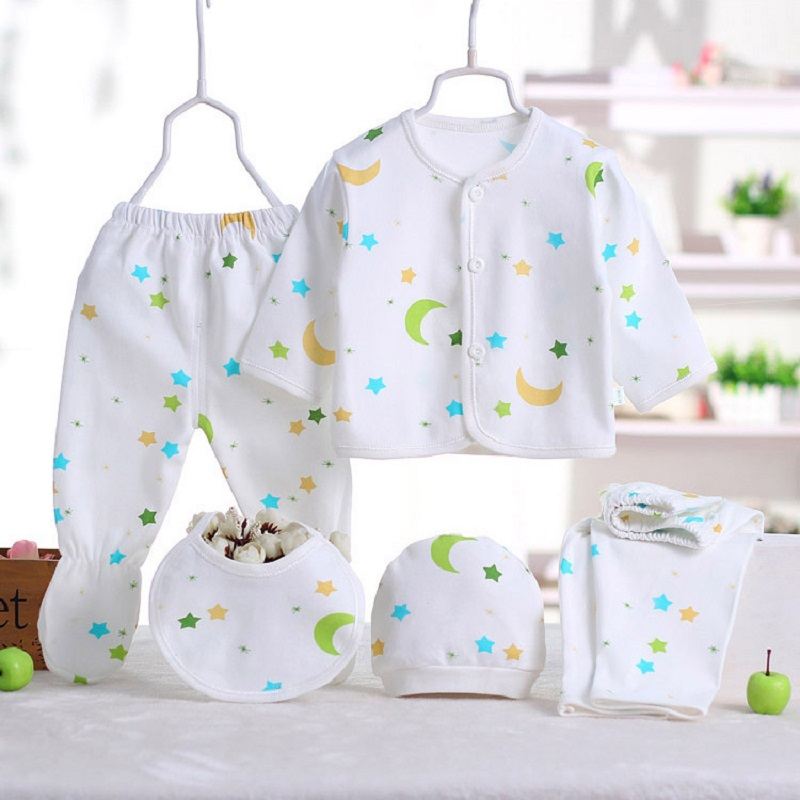 5pcs/set Newborn baby costume baby boy clothes 100% cotton infant clothing set baby girl clothes baby underwear Clothes baby set baby boy clothes 2 pieces