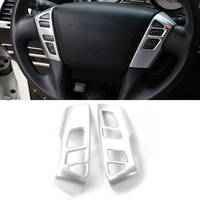ABS Car Steering Wheel Button Cover Trim For Nissan Armada Patrol Royale Nismo Infiniti QX56 QX80