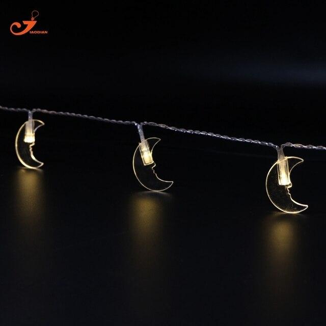 Lune LED guirlandes Ramadan Décor € Piles Cha ne éclairage De