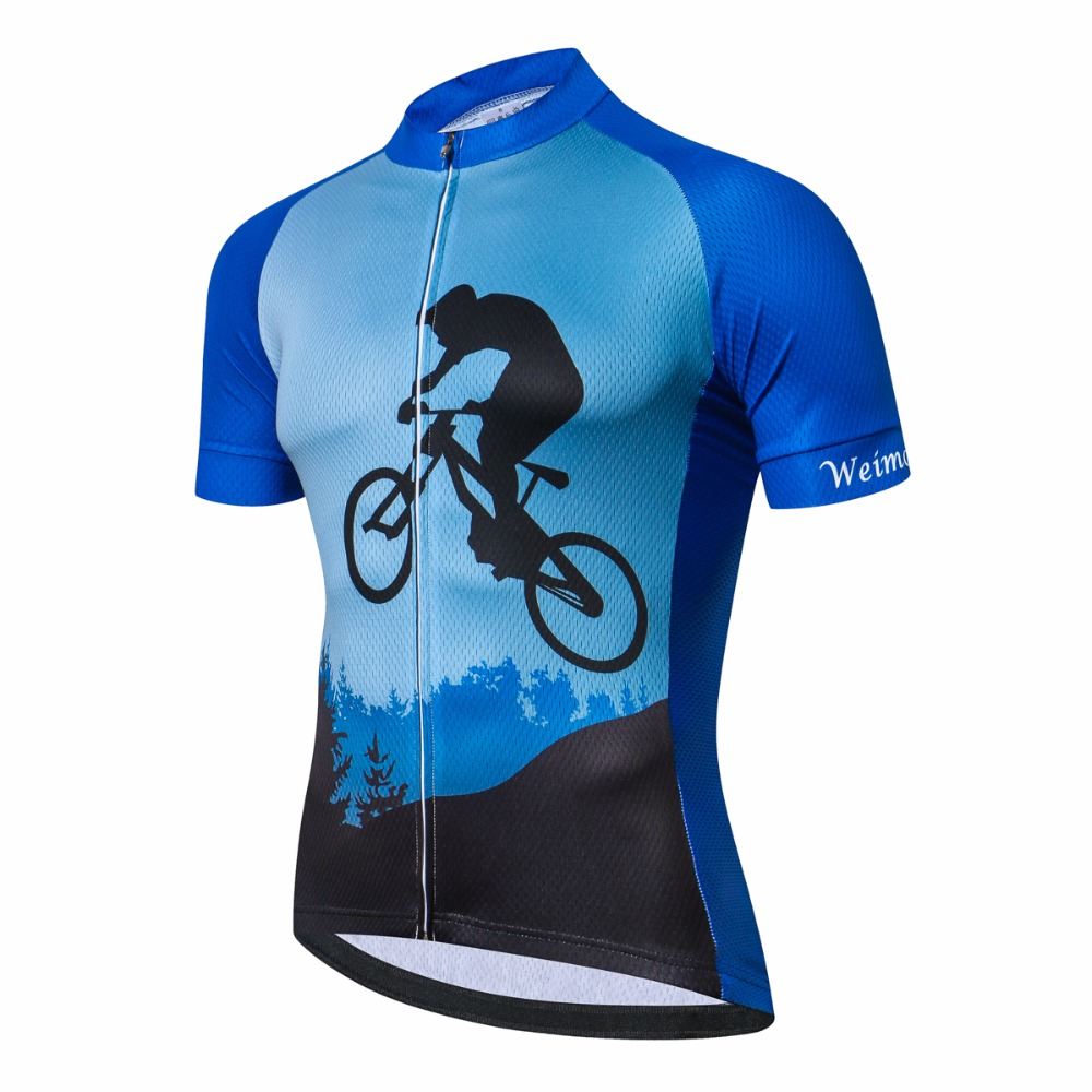 Weimomonkey Road cycling jersey youth Short sleeve Men mountain bike jersey  bicycle clothing MTB Top Ropa Ciclismo Maillot Blue-in Cycling Jerseys from  ... 52b8bc595
