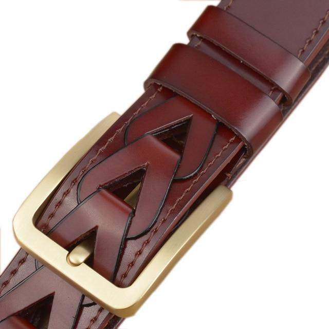 2016 New Arrived Fashion Designer Belt 100% Genuine Leather, Famous Brand Luxury Belts Men Belts Male Hand-made Waist Strap
