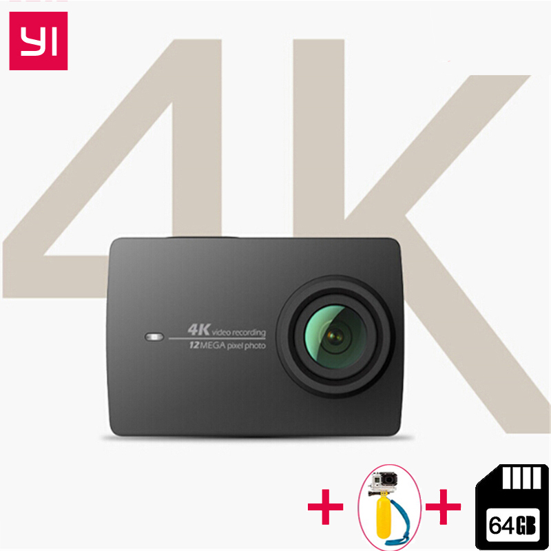 YI 4 k Caméra D'action Ambarella A9SE BRAS 4 k/30 2.19 Écran Retina HD IMX377 12MP 155 degré L'EIE PMA Xiaomi YI Caméra D'action Sport