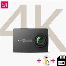 YI 4 К действие Камера Ambarella A9SE ARM 4 К/30 2,19 «retina Экран HD IMX377 12MP 155 градусов EIS НРС Xiaomi YI Спорт действий Камера
