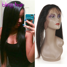 Pre Plucked 360 Lace Frontal Closure 8A Lace Frontals Natural Hairline Brazilian Human Hair Straight 360 Lace Virgin Hair
