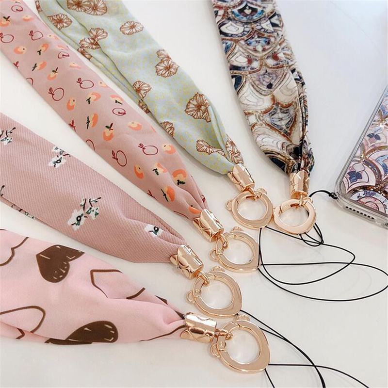 Korean Style Luxury Neckline Chiffon Wide Necklace Lanyard Key Certificate Gym Mobile Phone With USB Badge Clip Lanyard