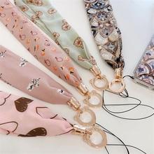 Корейский стиль Роскошные декольте шифон широкий шнурок для ожерелья ключ сертификат тренажерный зал мобильный телефон с USB бейдж Клип Шнурки
