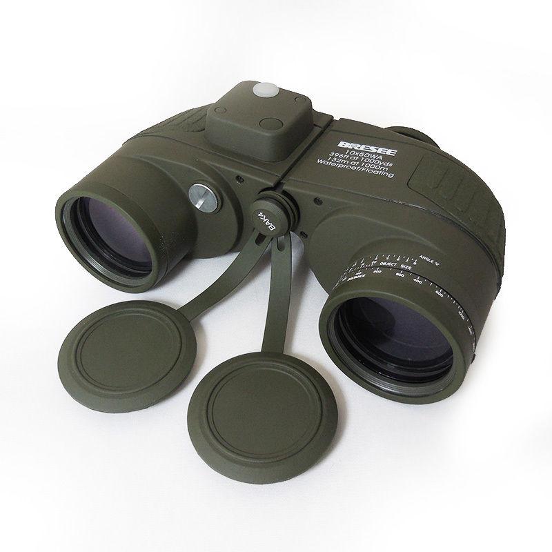 Télescope de chasse de jumelles militaires marines imperméables avec la lentille optique de Compas 7X50mm avec le sac