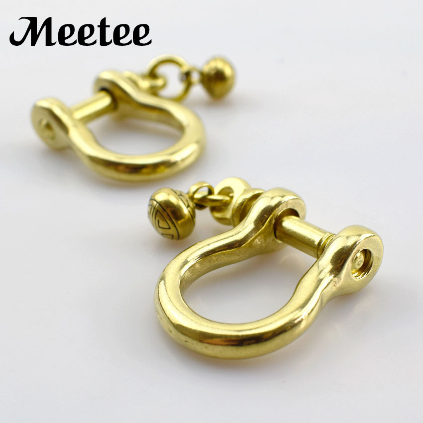 Brass Or Stainless Steel Screwed O Ring Clasps Anchor Shackle Adjustable For Key Chain Paracord Bracelet Belt Diy Accessories Apparel Sewing & Fabric