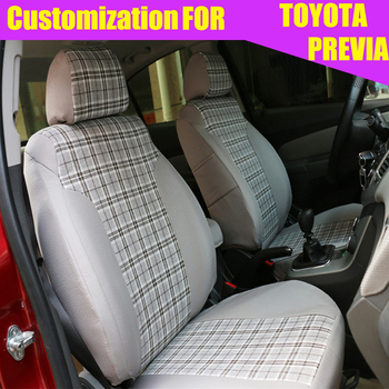 Dedicated covers seats for TOYOTA PREVIA 2009-2012 car seat covers Scottish headrest cover car accessories seat cushion supports