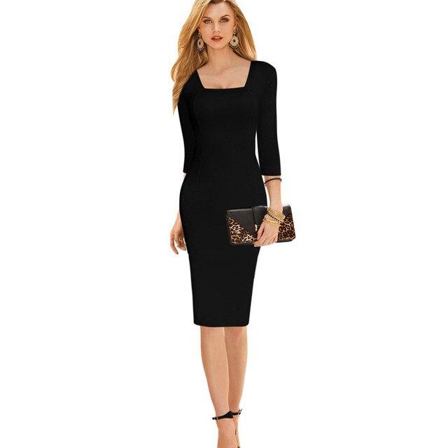 Vestido negro para la oficina