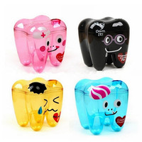 Dental Home School Stationery Binder Clips Paper Clips Pushpins Plastic Clip Office Accessories With Tooth Shape