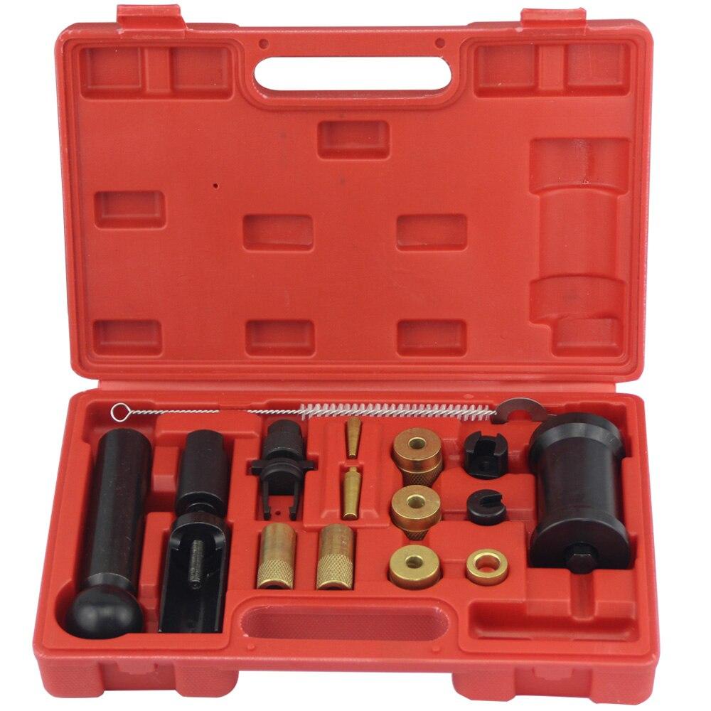 18 шт. двигатели для автомобиля инжектор Съемник удаления установщик набор инструментов VAG Audi VW FSI бензин