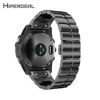 HIPERDEAL New Stainless Steel Bracelet Quick Release Band Strap For Garmin Fenix 5X Watch 18Jan18 Drop
