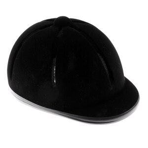 Image 5 - Casque déquitation velours cavalier équestre sécurité tête chapeau protecteurs de corps équipement déquitation pour enfants enfants 48 54cm