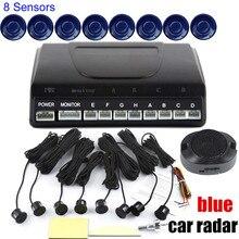 8 Датчики Автомобиля Обратный датчик Парковки без Дисплея LCD nonitor парковочные Датчики сигнализации 9 цветов на выбор
