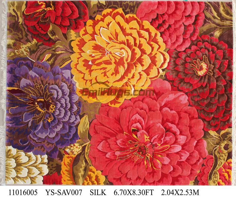 143e9d61b Top Fashion Tapete Detalhes Sobre 6.7  X 8.3  Tapete Savonnerie Tapete  Feito A Mão-atado Grosso Pelúcia ordem ys-sav007gc88savyg2
