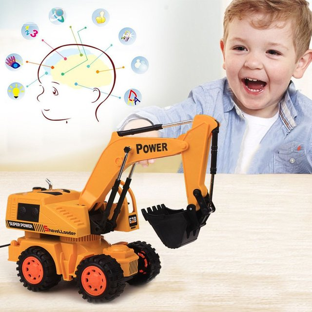 8020 RC Car 5CH LED Wheel Excavator Charging RTR Remote Control Truck Construction Vehicle Cars For Kids Toys Engineering Car