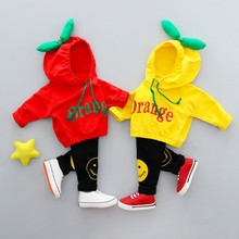 цены на Autumn Baby Boy Girl Clothing Set Cute Hooded Long sleeve Top Trousers 2pcs Sport Suit  в интернет-магазинах