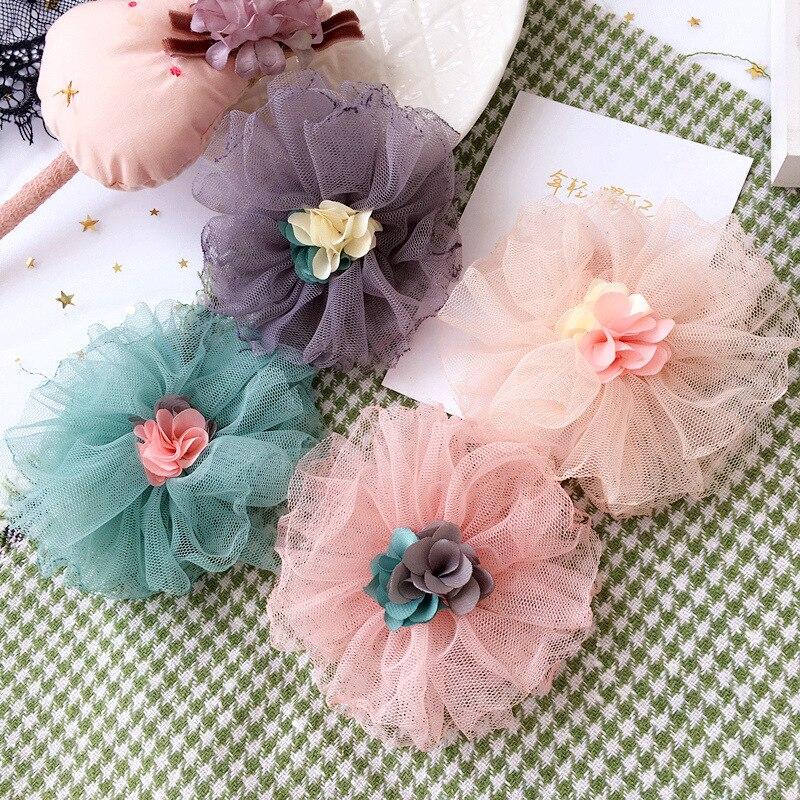 Colorful Ribbon Big Hair Bows Hair Accessories For Girls Korea Princess Hair Clips Flower Crown Hair Ornaments Rim Hairpin