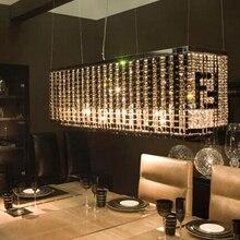 Бесплатная доставка прямоугольник хрустальная люстра F Черно-Белый разноцветные стеклянные люстры 110-240 В
