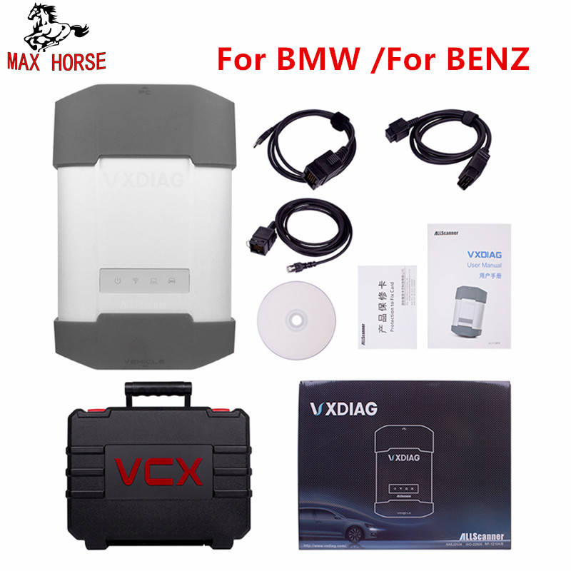 Горячие беспроводной VXDIAG инструмент диагностики авто для BMW/для BENZ двигатели мотоциклов Сканер Поддержка новых моделей автомобилей 222/213/205