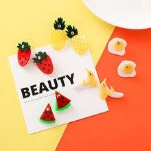 Acrylic Cute Fruit Earrings Strawberry Banana Watermelon Pineapple Dainty Gift