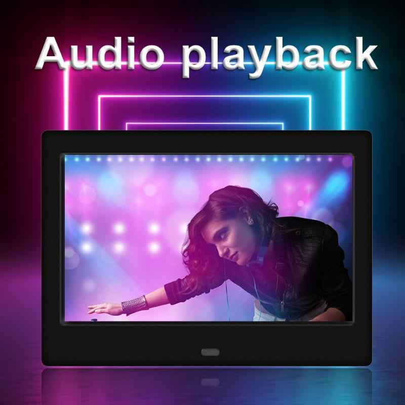 7 inch LED 800x480 Digital Photo Frame Alarm Clock MP3 MP4 Movie Player