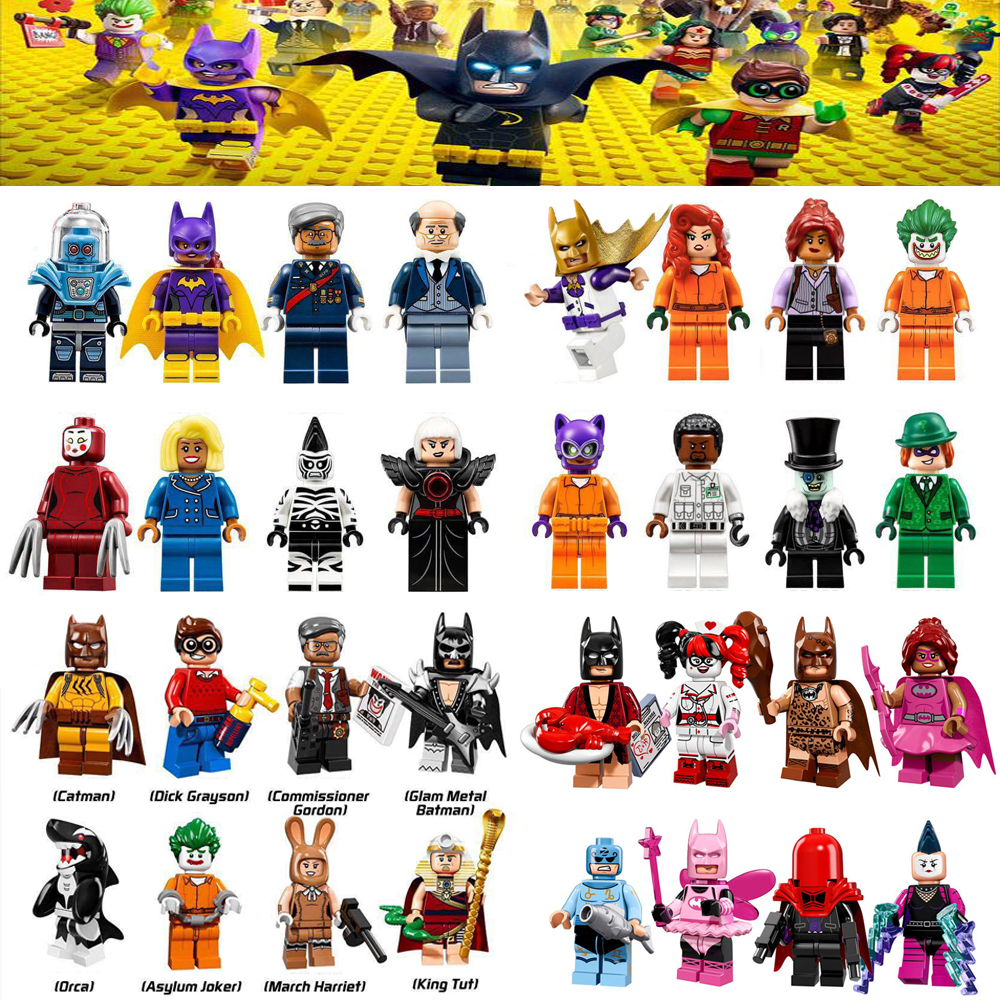 OLeKu Marvel DC Super Heroes Batman Joker Robin Logan X-Men avengers spiderman Building Blocks Toys LEGOING Batman Figures