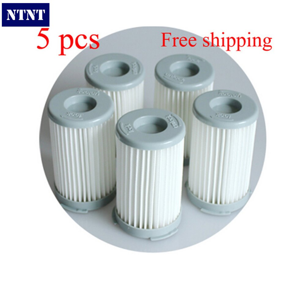NTNT 5pcs/lot Vacuum Cleaner Cartridge Pleated HEPA Filter For Electrolux ZS203 ZTI7635 ZW1300-213 Replacement 7pcs lot vacuum cleaner hepa filter for philips electrolux replacement motor filter cotton filter wind air inlet outlet filter