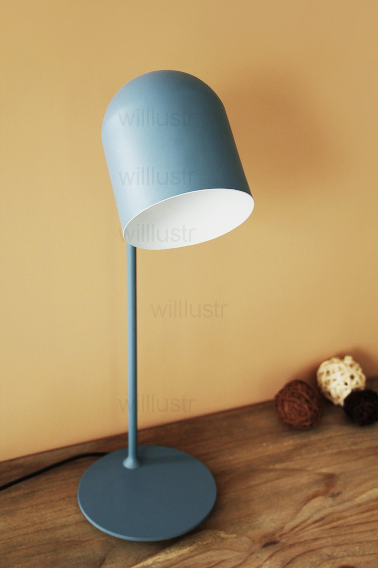 Willlustr Nieuwe Iron Leeslamp Nachtkastje Lamp Studeerkamer Desk Verlichting Office Hotel Macaron Kleur Roze Zwart Geel Blauw Light Office Desk Lightstudy Lamp Aliexpress