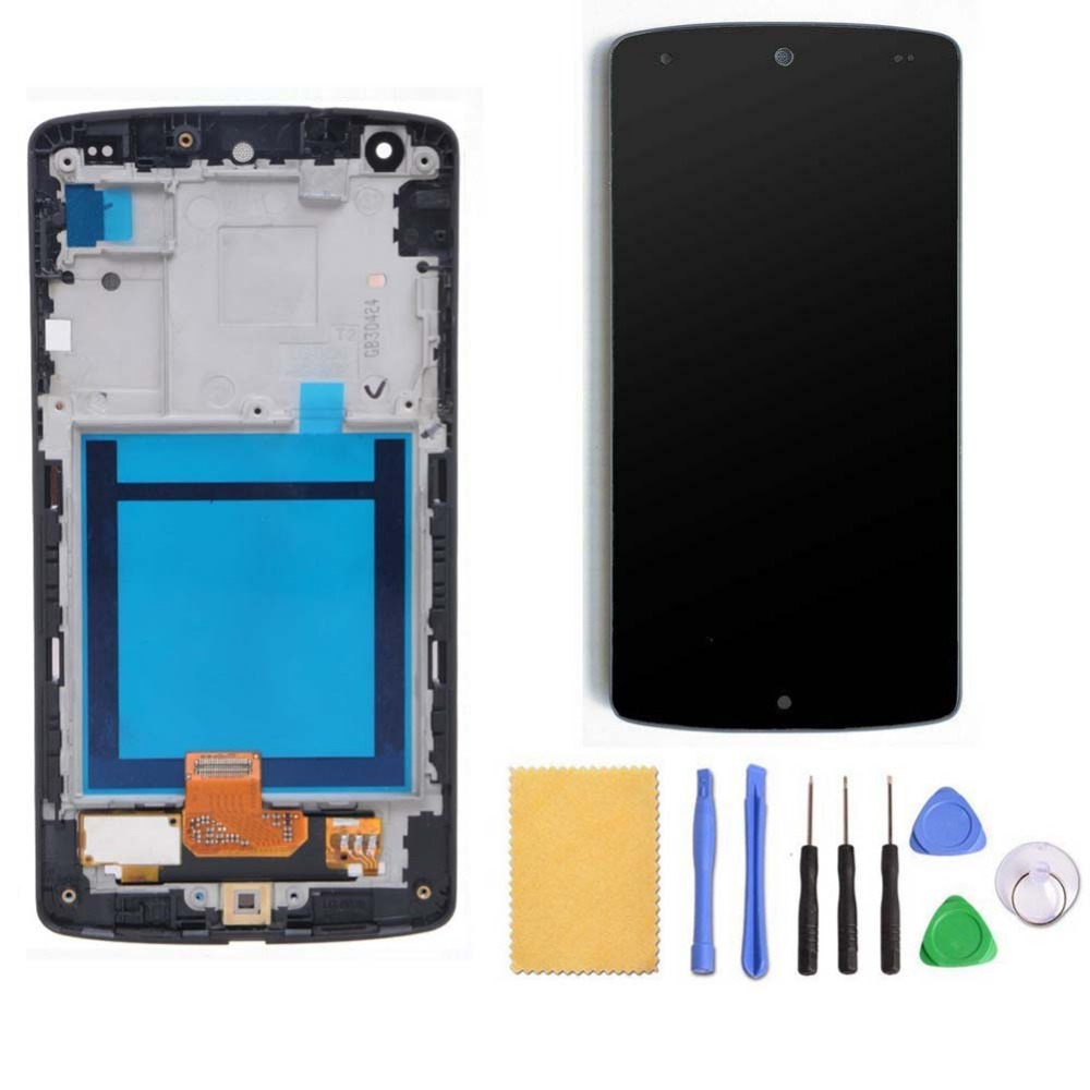 For LG Google Nexus 5 D820 D821 LCD Display + Touch Screen Digitizer With Black Middle Frame Assembly+Free Tools, Free Shipping 4 95 for lg google nexus 5 d820 d821 lcd screen display touch screen digitizer assembly frame free shipping