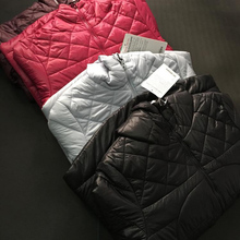 Free Shipping New Women lulu Winter Coat Solid Down With Zipper Thick Material Short Sleeves Top Quality Size XS-L