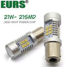 EURS 20PCS 1156 BA15S P21W 21 led 1157 3030smd Car Tail Bulb Brake Lights auto Daytime