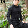 Camouflage Long Sleeve Patchwork Turn Down Collar G3 Frog Tees Tops Breathable Quick Dry Military Tactical Shirts Men #170222
