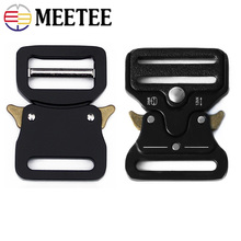 Meetee ID33mm Metal Quick Side Release Buckle Alloy Black Outdoor Belt Backpack Webbing Clasp Hooks Clips Hardware DIY Accessory