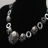 New style pearl Necklaces for woman jewelry gros collier femme silver necklaces pendants collier sautoir long necklaces gift
