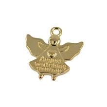 30xlight Gold Angel Charms Beads Pendants Angels Watching Jewelry Making tt