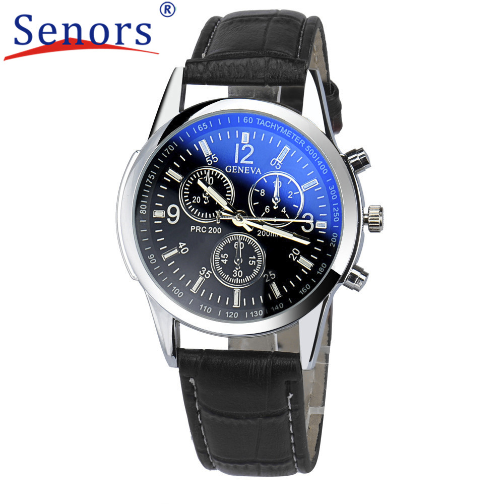 Super Splendid New Luxury Fashion Faux Leather Men Blue Ray Glass Quartz Watches Casual Cool Watch Brand Men Watches Hot 2017 durable 2016 fashion relogio masculino luxury faux leather mens blue ray glass quartz watches watch men quartz watch