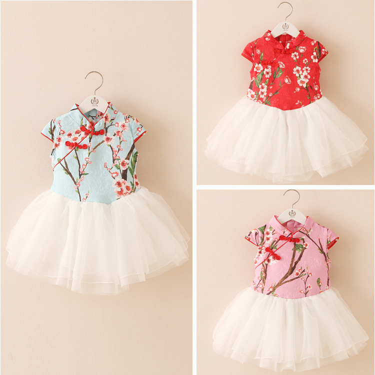 2018 New Arrivals 1pcs Infant Baby Girl Lovely Floral Bowknot Strap Princess Dress Clothes Children 3-8 years Bebe Clothing